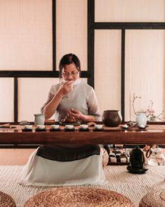 Drinking tea calms a healthier you