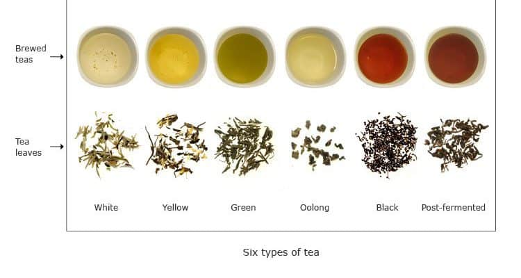 Many types of tea for different days of the week
