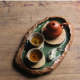Lotus Pond Tea Tray