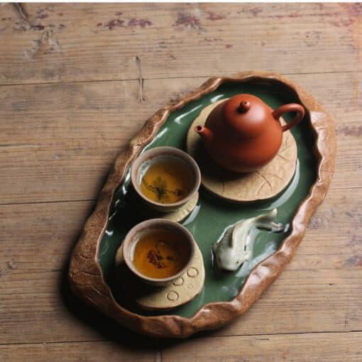 Lotus Pond Tea Tray