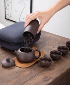 Portable Zisha Tea Set