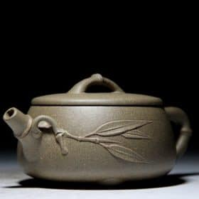 Yixing Zisha Purple Sand Clay Teapot - Bamboo Pattern (150 ml) Image
