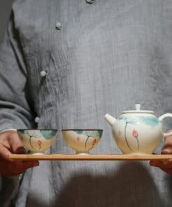 Lotus Ceramic Tea Set