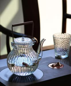 Ribbed Glass Kettle