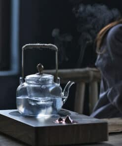 hammered glass teapot
