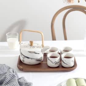 大理石紋陶瓷茶具套裝 Image