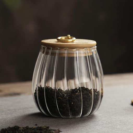 高硼珪玻璃茶葉壺