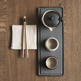 日式黑陶一壺二杯家用旅行茶具小套裝 Image