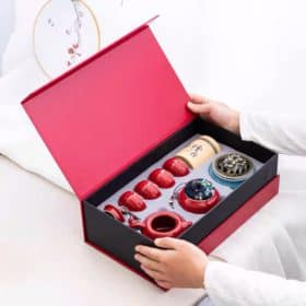 清貨大減價 陶瓷功夫茶具禮盒套裝 (紅) Image